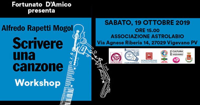 Scrivere una canzone – Workshop con Alfredo Rapetti Mogol