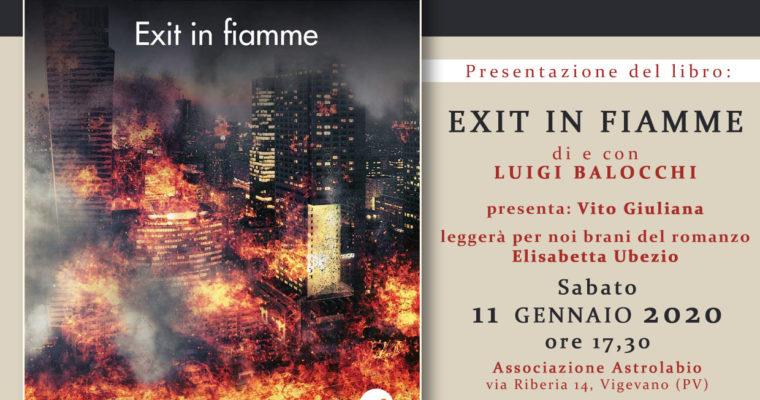 EXIT IN FIAMME – Presentazione del libro di Luigi Balocchi