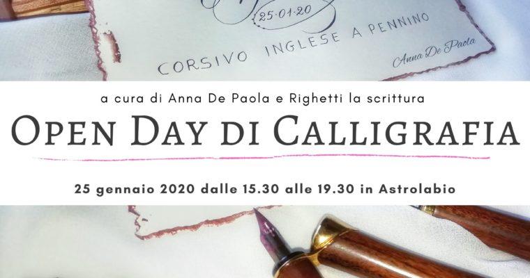OPEN DAY DI CALLIGRAFIA