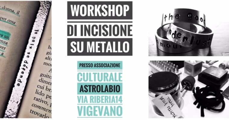 Workshop di incisione su metallo – con Erica Buscaglia