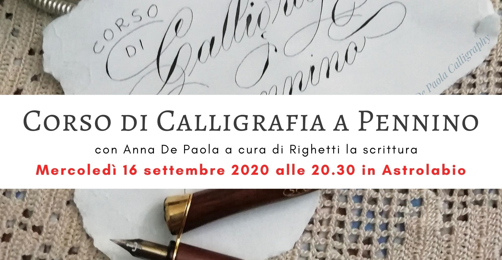 Corso di Calligrafia con Anna de Paola