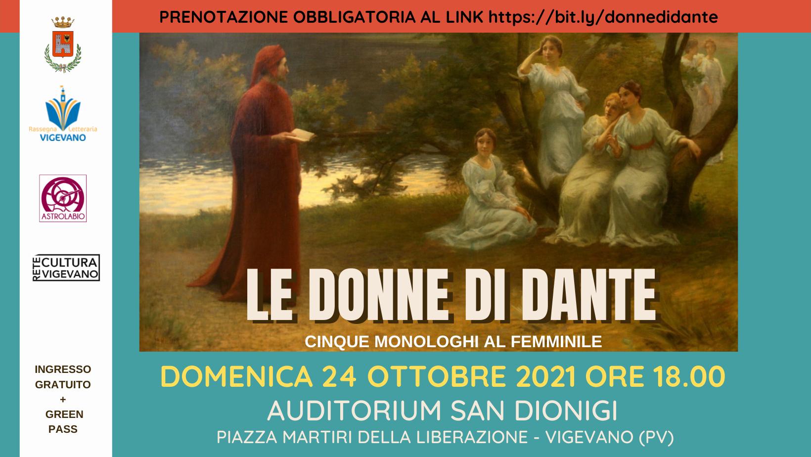 Le Donne di Dante – Cinque monologhi al femminile